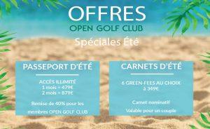Offres Golf Spéciales Été 2021 - Open Golf Club