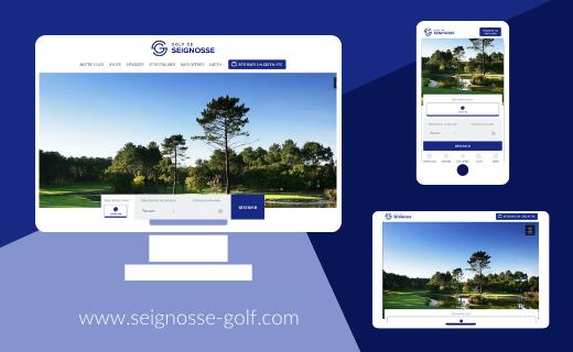 The Golf de Seignosse website has a brand new look!